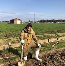 牧草地の排水対策作業
